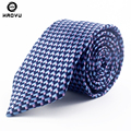 New Fashion Men Ties Navy Silk Neck Ties for Men Jacquard Corbatas Business Wedding Party Neckties Corbatas Para Hombre 2016