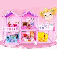 Children Handmade Dollhouse Castle DIY House Toys Miniature Doll house Birthday Gifts Toys Doll Villa Girl DIY Toys
