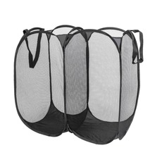 Portable Pop Up Washing Dirty Clothes Laundry Basket Bag Foldable Mesh Storage Toy Container Organization Home Storage Household