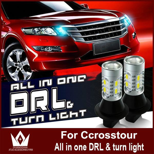 Guang Dian daytime running lights & Front Turn Signals Light 12V drl with Switch light For Ccrosstour LED DRL 20W 7440 WY21W T20 tcart 2x auto led light daytime running lights turn signals for toyota prius highlander for prado camry corolla t20 wy21w 7440