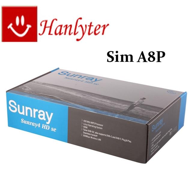 DHL free shipping Sunray SR4 a8p dm800hd se Triple Tuner Wifi Internal SIM A8P Satellite Receiver Update Original Software!!