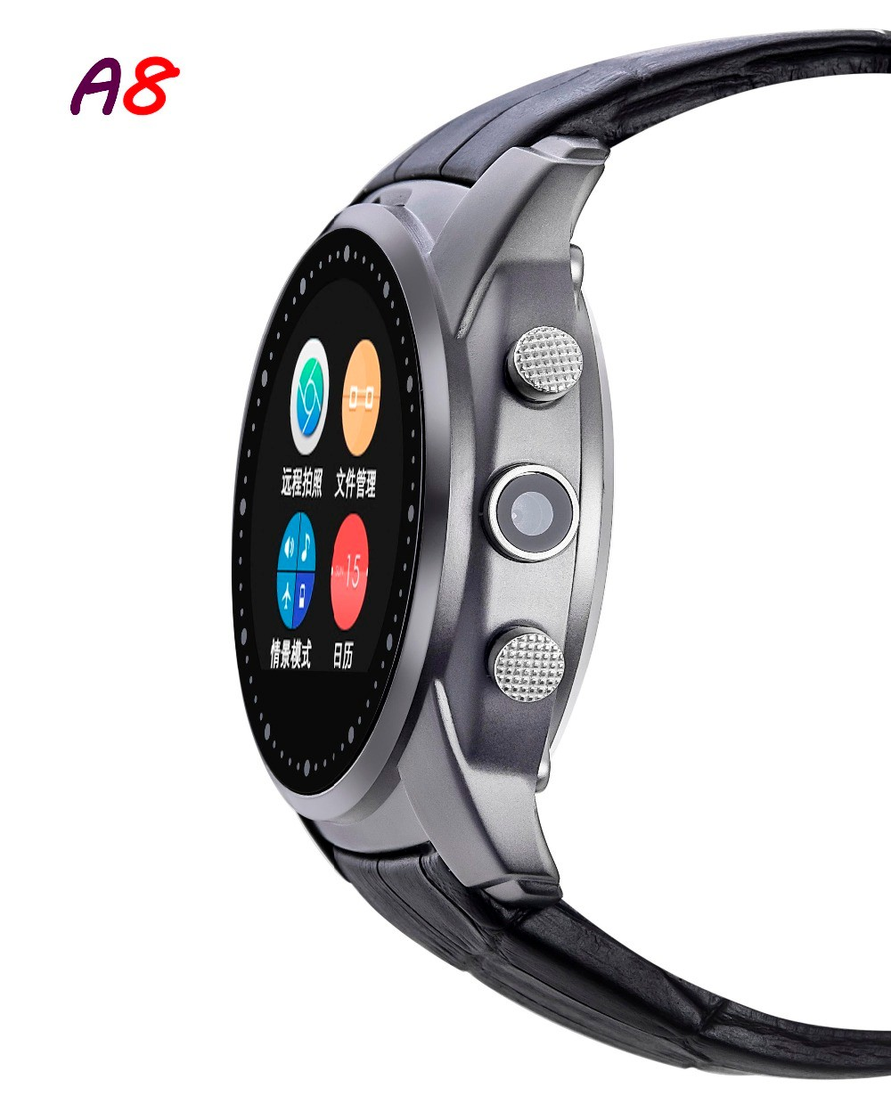 2016-Fashion-Smart-Watch-A8-Support-SIM-Card-Bluetooth-Sim-Watch-Round-Dial-Alloy-Material-Leather (2)