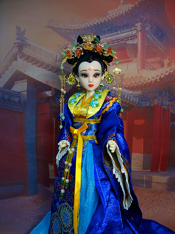 35cm Handmade Vinyl Ancient Chinese Style Dolls With 3D Realistic Eyes Collectible Girl Dolls Retro Toys Birthday Gifts 360 handmade ancient chinese dolls 1 6 bjd jointed doll empress zhao feiyan dolls girl toys birthday gifts