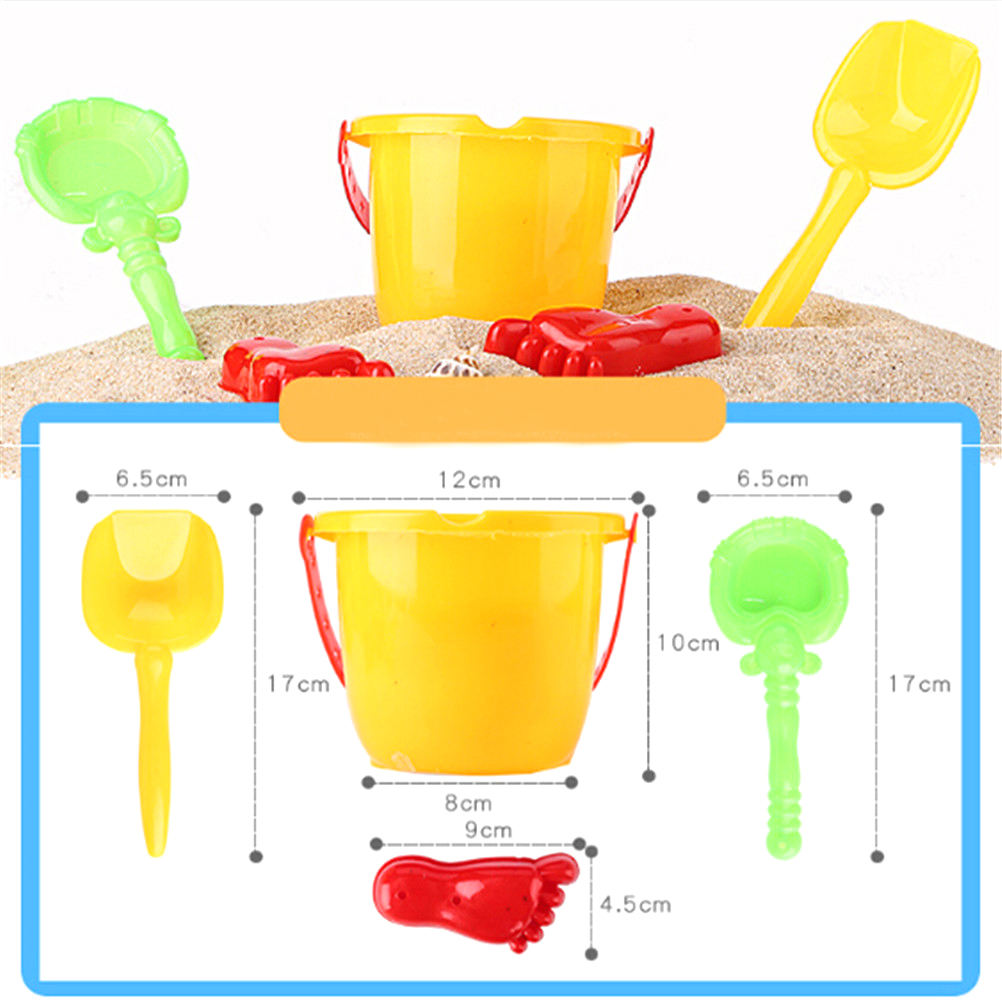 Hot 4pcs/set Sand Sandbeach Kids Beach Toys Castle Bucket Spade Shovel Rake Water Tools High-grade Beach Barrels Beach Toys #3