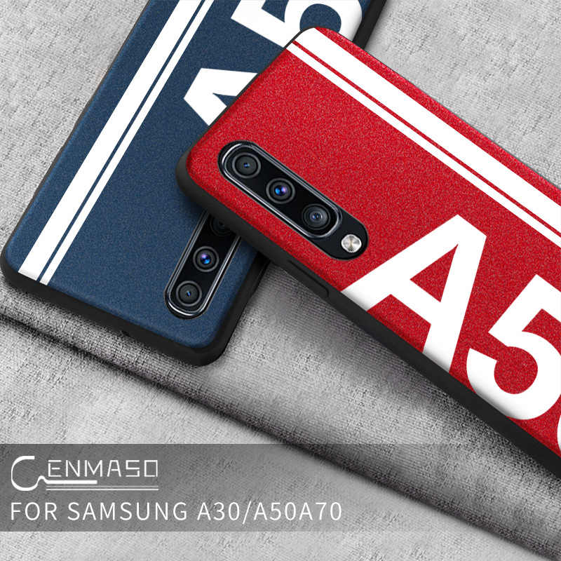 For Samsung A50 Case Luxury Leather Silicone Soft Edge Protection Cover for Samsung Galaxy A30 A50 A70 Case Shockproof Cover