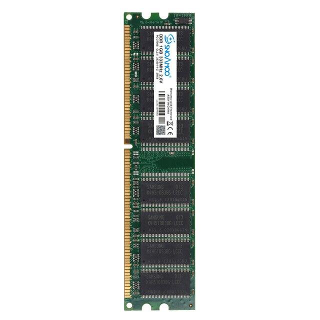 SNOAMOO DDR1 DDR 1 Гб PC2700/3200 DDR 333 МГц/400 МГц 184Pin Настольный ПК Память CL2.5 оперативная Память DIMM 1G пожизненная Гарантия 1