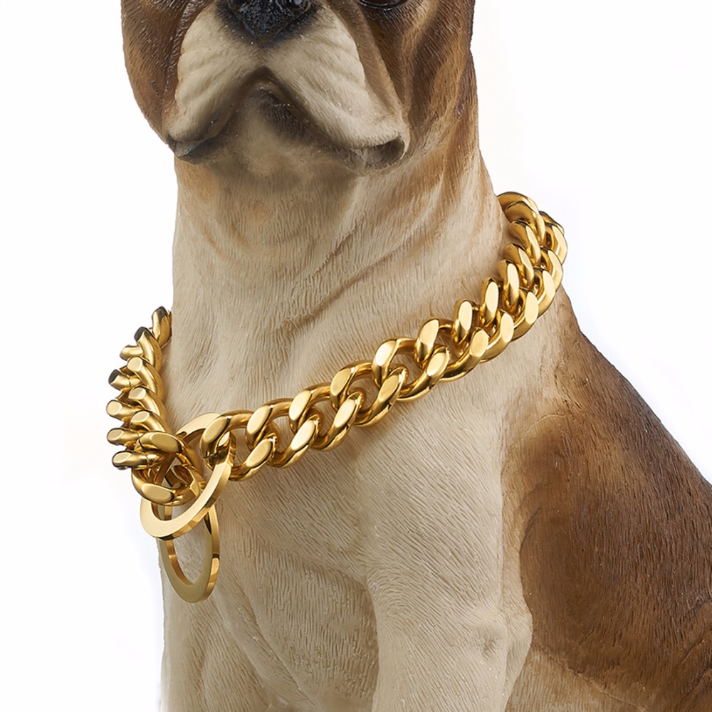 Huge Pet Dog Choke Chain Silver Stainless Steel Choker Collar Necklace 15mm