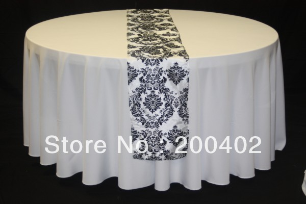 free shipping damask table runner
