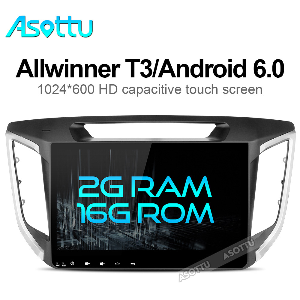 imágenes para 2G + 16G Infidini android 6.0 jugador del coche dvd gps 1024*600 Para HYUNDAI IX25 CRETA 2014 2015 gps de navegación del coche de audio estéreo jugador