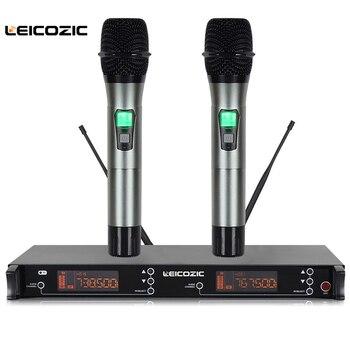 Microfone Inalámbrico Profesional Leicozic 615-655Mhz Solapa MICRÓFONO INALÁMBRICO Lavalier MICRÓFONO INALÁMBRICO Sistema De Karaoke De Doble Canal