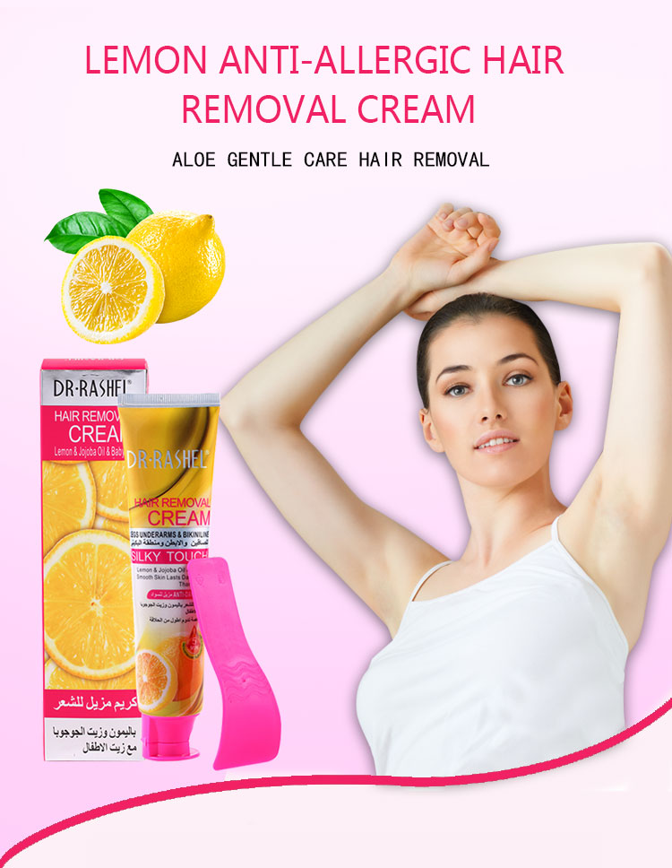 Dr Rashel Lemon Hair Removal Cream Jojoba Oil Legs Underarm Bikini Line Silky Touch Depilatory Cream 110 Ml Hair Removal Cream Aliexpress