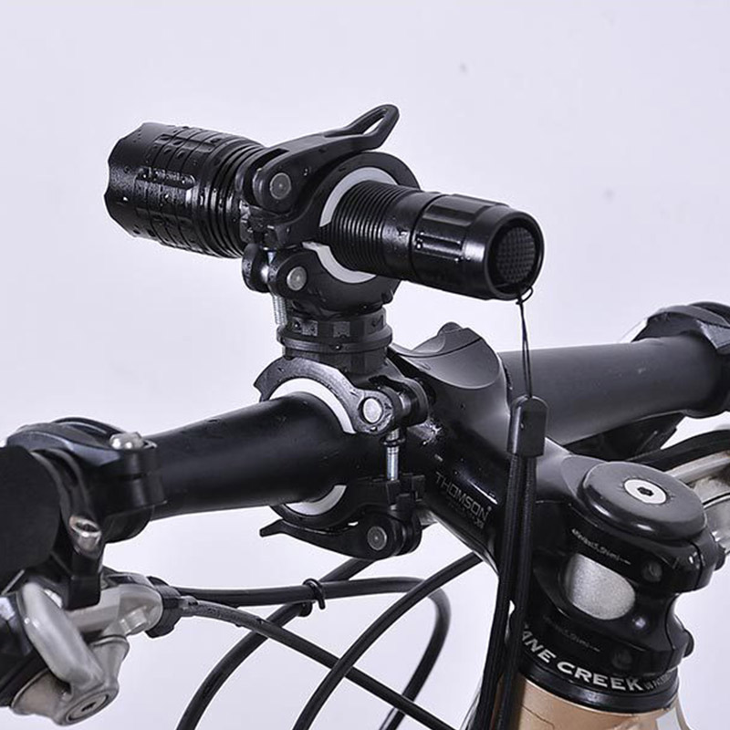 4pcs Wholesale Bicycle Mount Flashlight Bracket Holder Front Light Holder Bicycle Accessories Road MTB Bike Handlebar Light Clip handlebar mount bicycle