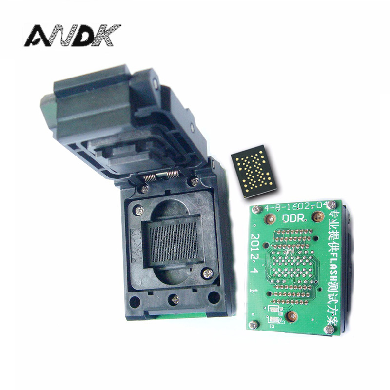 LGA52 DIP48 Pogo pin IC Test Socket With Board Flash Programmer Adapter Burn in Socket Cleamshell Structure Adapter LGA52 socket 8pins dip dip 8 ic socket test socket round hole square type pin dip8 dip14 dip16 dip18 dip20 dip24 dip28 dip32 dip40