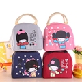New Arrival Cute Cartoon Zipper Cooler Insulated Lunch Bag Creative Tote Pink Food Bag Box  For Women Girl Lancheira Termica