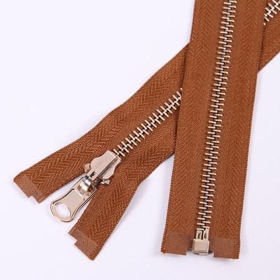 Alipress 5#90 см длинный открытый конец молния светильник золотые зубы металлические молнии для DIY шитья пуховик Куртка - Цвет: brown