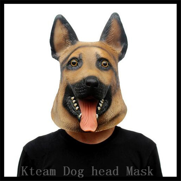 Funny Dog Head Mask Full Face Adult Mask Breathable Halloween Masquerade Fancy Dress Party Cosplay Costume Lovely Animal Mask