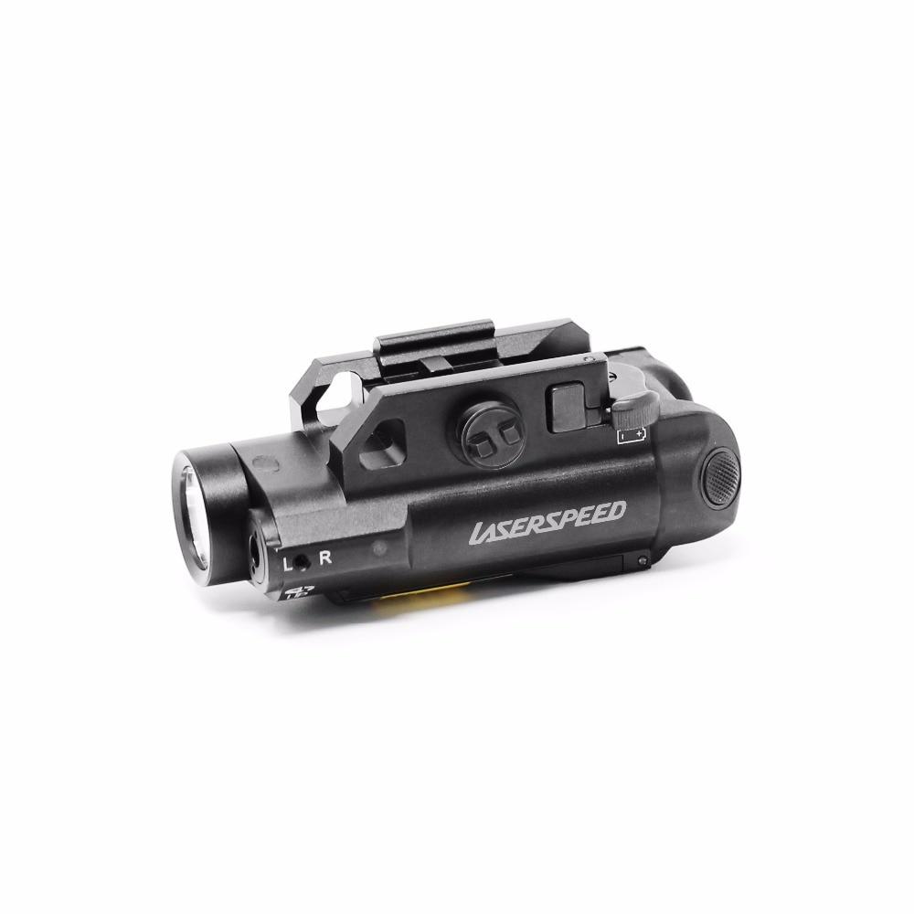 Green laser sight and 100lumens flashlight combo for guns