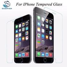 (OUZIFISH) 0.26 мм Ультра-тонкий Премиум Закаленное Стекло-Экран Протектор для iPhone 4 4S 5 5S 5c 6 6 S 7 ПЛЮС Anti scratch Cover Case