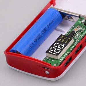 Image 2 - 18650 Power Bank 10000mah (No Battery) DIY Case Phone Charge Box LED Flashlight Poverbank 3 USB 5x18650 Powerbank Pover Bank