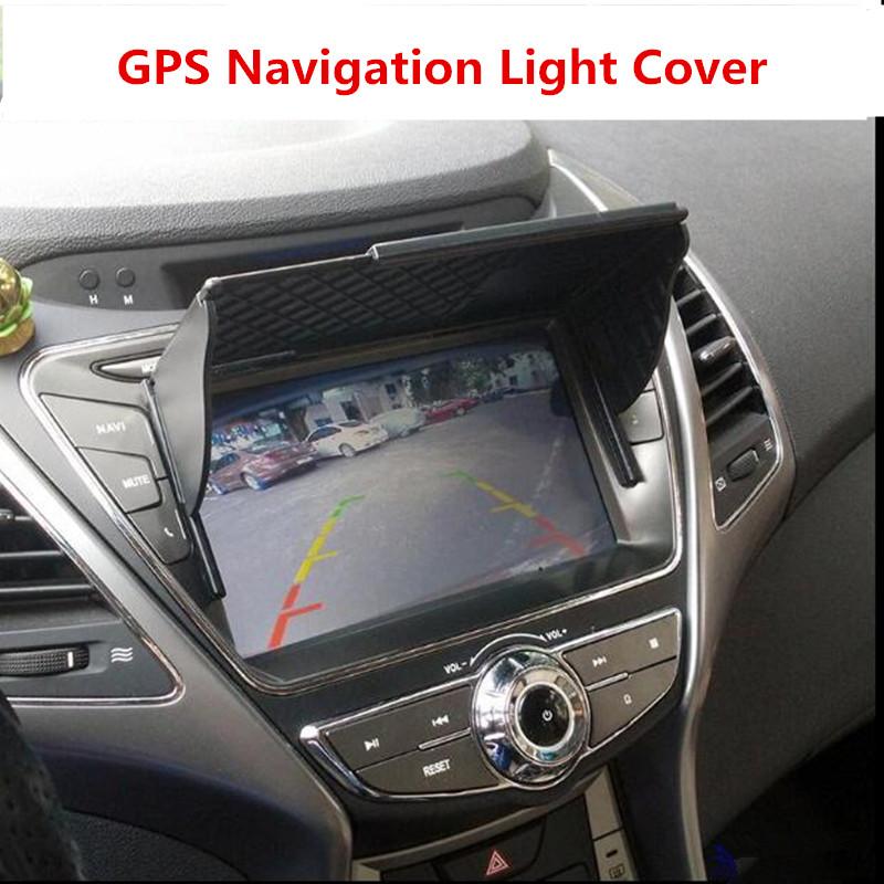 Free Shipping 6-10 Inch Universal Car GPS Navigation Light Cover Barrier GPS Navigator Sun Visor Sunshade Width 145mm-245mm