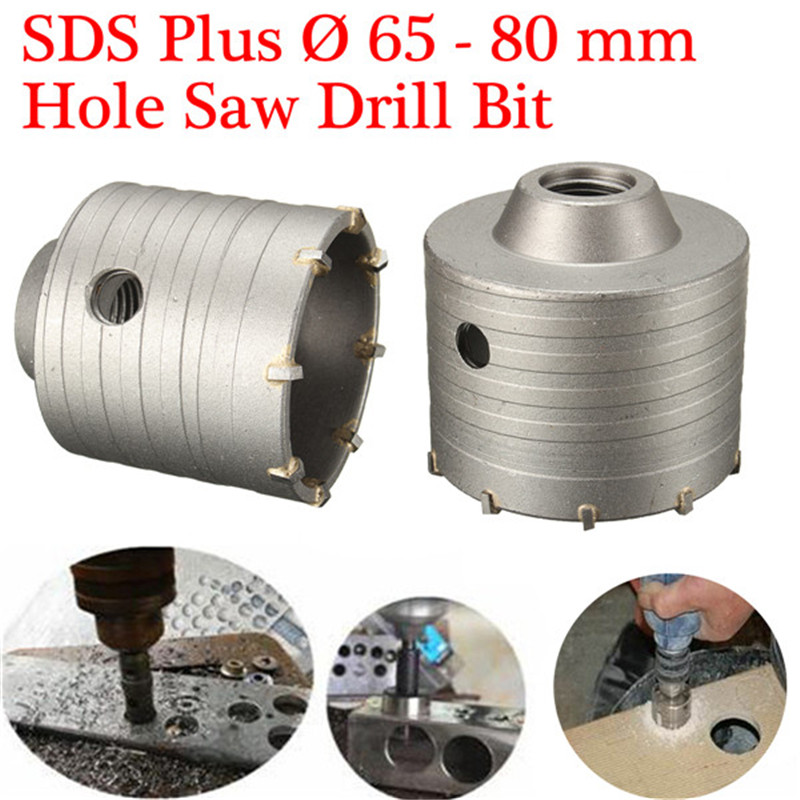 1PCS SDS-PLUS Hole Saw Drill Bit 65/80mm Be Used For Non-standard Angle Iron And Other Metal Open Hole Best Price 55mm cutting dia sds plus shank concrete cement stone wall hole saw drill bit