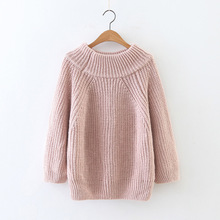 Autumn 2018 Thick needle pullover Knitted Sweater Women Winter  Pullover Female knit Jumper Pull Femme sweater