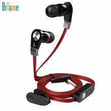 Briame Music In-Ear Earphones Clear Bass Earpiece Earbuds Headset Sport Headphones With Microphone for iphone 5 5S 6 6S Samsung