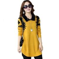 Turn Down Collar Sweater Dress Fashion Women Plus Size Pullover Basic Slim Wool Cashmere Sweater Knitwear LU242