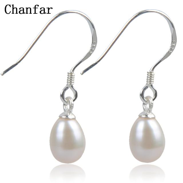 925 Sterling Silver Pearl Earring Of Nature Freshwater Dangle Earrings White Pink Purple Jewelry