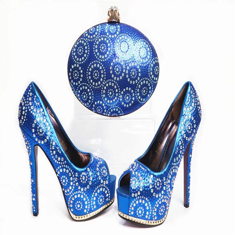 G35 Top Quality Blue African Woman Shoes And Bag Set Fashion Wedding High Heels Shoes With Cluch Bag Online top quality woman shoes fashioned in the concise design and unique pattern fringe decoration stiletto high heels light blue heel