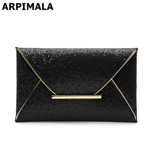 Luxury Party Glitter Envelope Clutch Bag