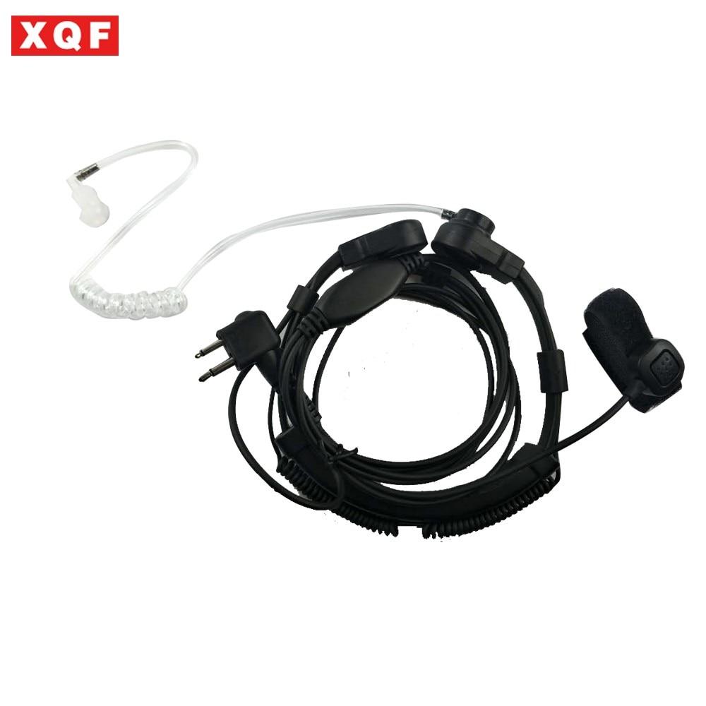 XQF Adjustable Throat Microphone Telescopic Headset Stretch For Motorola 2 Pin PRO1150, PRO2150 Walkie Talkie GP68, GP88 Radio