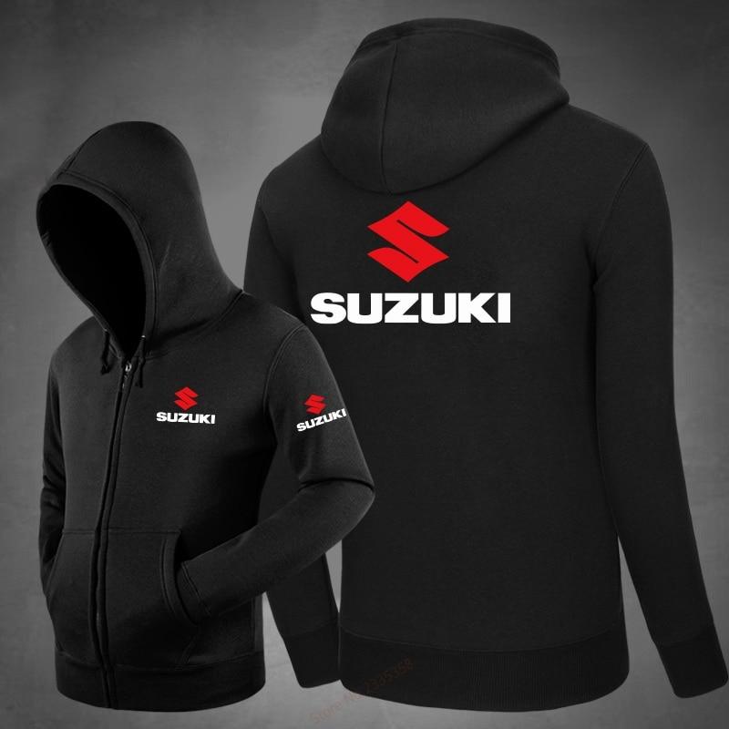 Men Hoodies 2018 New Design Male Solid Casual Fleece suzuki Sweatshirt Men's Slim Fit Zipper coats Popular jackets