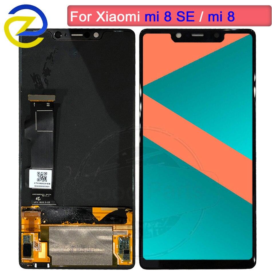 Super AMOLED affichage xiaomi mi 8 SE LCD affichage mi 8SE écran tactile numériseur + cadre xiaomi mi 8 SE LCD 8SE remplacement de l'écran
