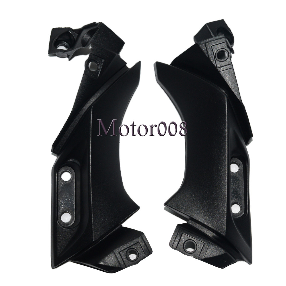 Black Side Frame Mid Cover Panel Fairing Cowl for 2004 2005 2006 Yamaha YZF R1 upper front fairing cowl nose fits for yamaha 2004 2005 2006 yzf r1 injection mold abs plastic