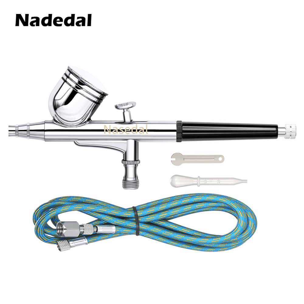 Nasedal Dual-Action 0.3mm Airbrush Paint Spray Gun Nart Art Painting Sprayer Cake Decoration Craft Model Painting Spraying Tool