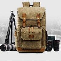 Hot Premium Vintage Photography Backpack Super large travel Waterproof Photography Canvas Sac à dos de grande capacit de v