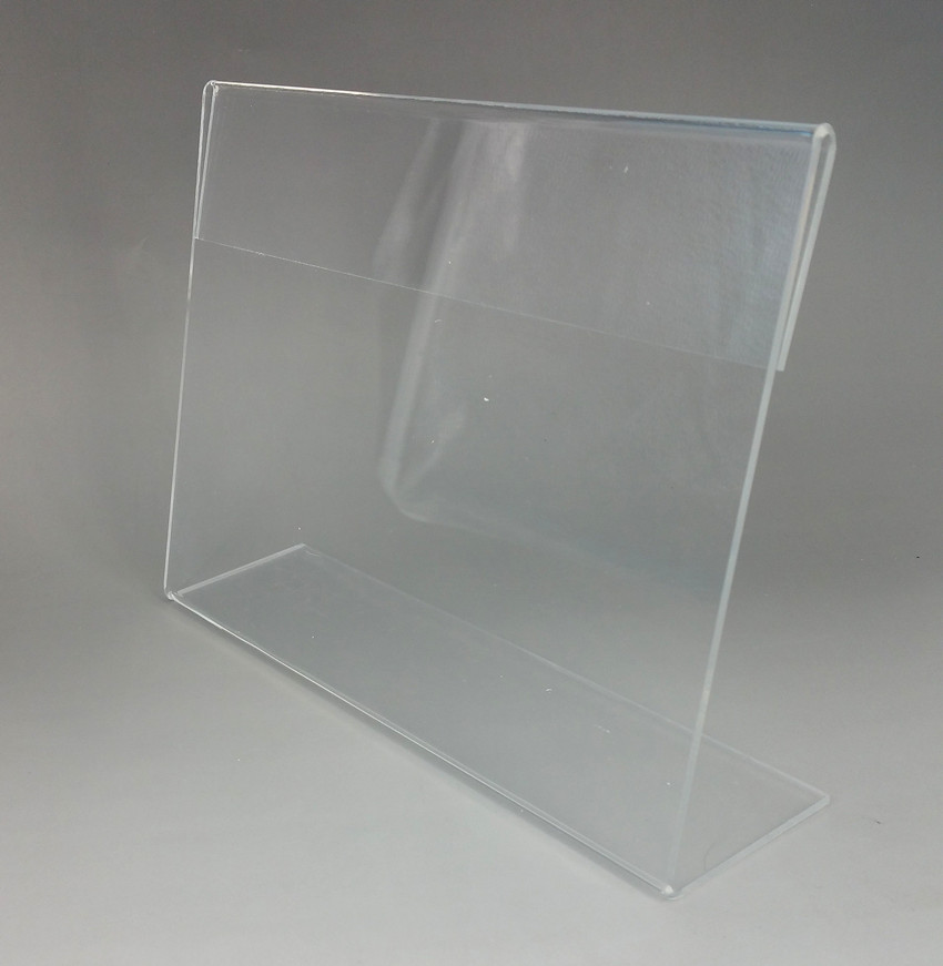 Transparent T2mm A4 A5 Plastic Acrylic Sign Show Display Paper Promotion Card Table Label Holders L Stand In Horizontal 4pcs 25pcs lot 8x4cm l shaped transparent acrylic stand supermarket price tag plastic table card holder