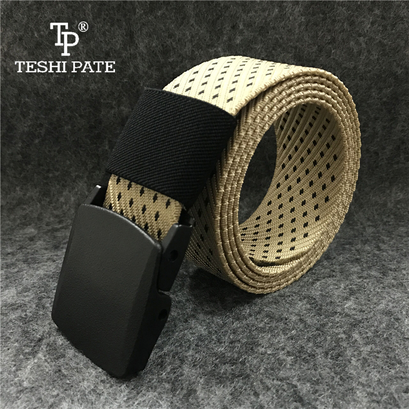TESHI PATE 2018 Tactical outdoor Quality quick-drying Nylon trousers Canvas belt Limited