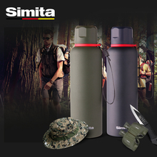 Simita 600mL Outdoor water bottle 18/8 stainless steel thermos insulation bottle flask with free sleeve electric thermos water bottle home insulation full stainless steel capacity