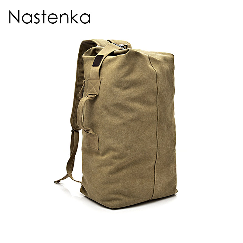 Nastenka Unisex Canvas Rucksack Men Travel Duffle Bags Women Canvas Backpacks Male Large Capacity Travel Backpack Men Sac A Dos new 65l nylon large capacity multifunctional backpack high quality waterproof travel bags designer rucksack sac a dos mochila