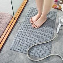 Grid Waterproof Quick Drying Shower Mat Non-Slip PVC Mat With Suction Cup Bathroom Mats Toilet Bathtub Floor Rug Bath Mat Carpet цена 2017