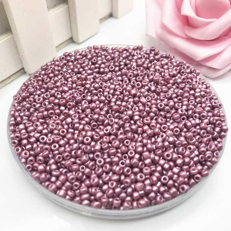 """1000 יחידות 2 מ""""מ קריסטל Spacer צ 'כי זכוכית זרע חרוזים להכנת תכשיטים עגיל שרשרת צמיד DIY חרוזים # BO24"""