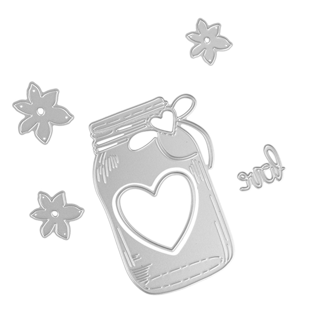 64*97mm scrapbooking love Wishing bottle Shape Metal steel cutting flower love bottle Shape Book photo album art card Dies Cut