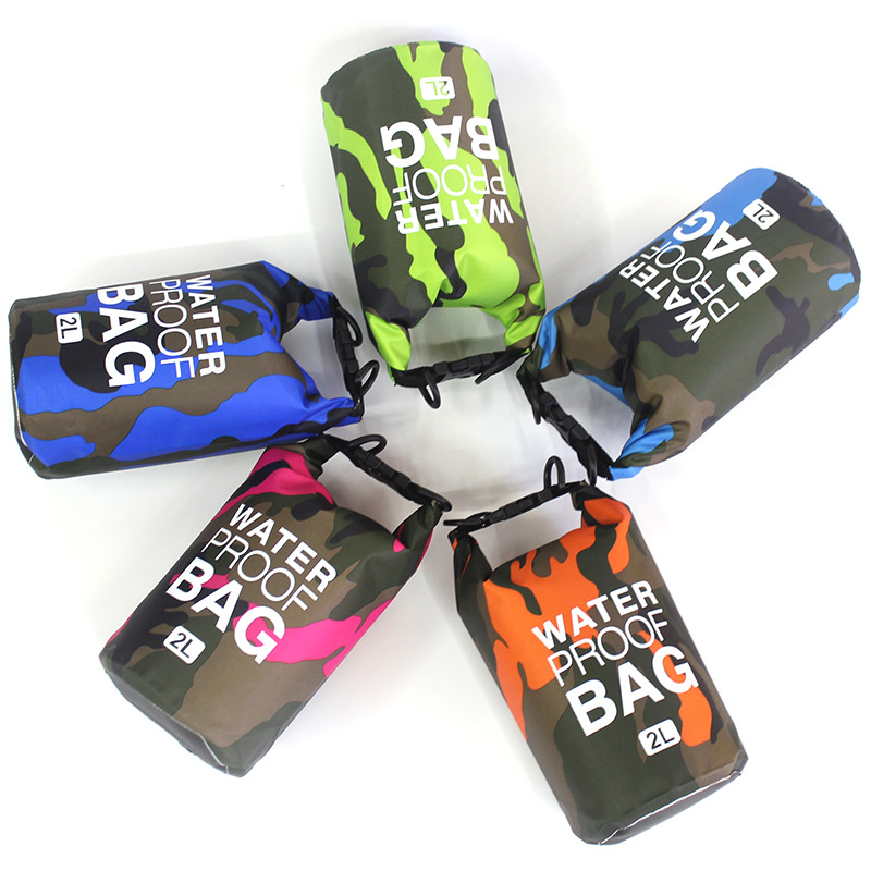 Topdudes.com - Rafting Diving PVC Waterproof Camouflage Folding Bag