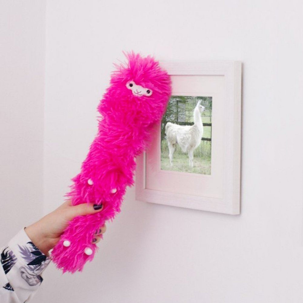 Bendable Llama Feather Duster Static Cute Desktop Decoration Desktop Household Dusting Brush Cars Cleaning Tool