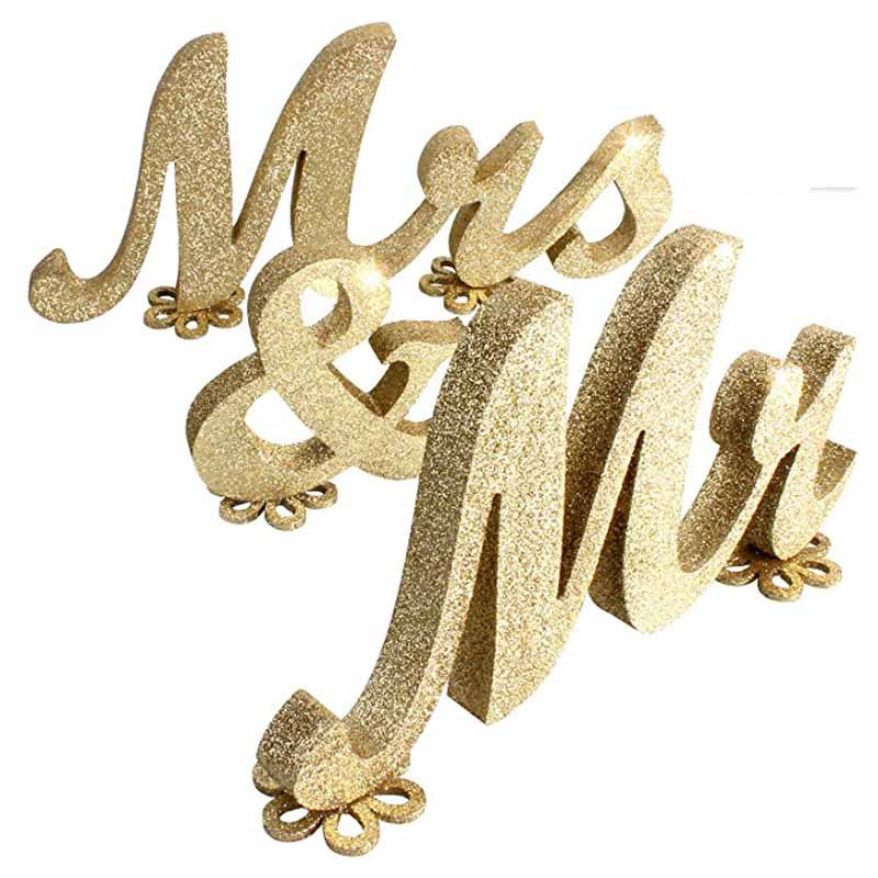 Mr & Mrs знак свадьбы Милая столешницы центральным деревенский девичник Bachelorette курица вечерние украшения подарок