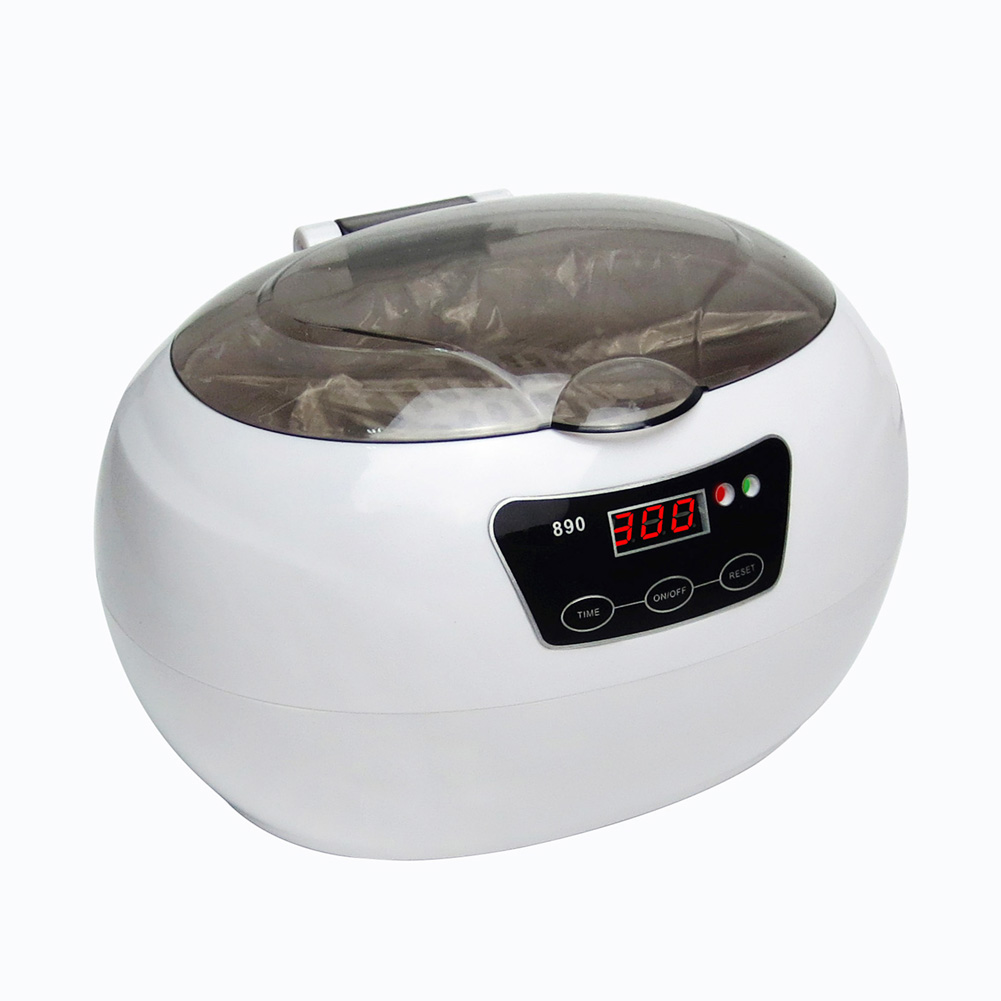 600ml Nail Tools Sterilizer Ultrasonic Cleaner Metal Tool Disinfect Machine Nail Device Cleaners Watch Salon Beauty Equipment nail sterilizer disinfect machine high temperature for metal tattoo art nipper tools with clean pot 10l