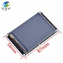 TZT 3.2 นิ้วLCD TFTพร้อมความต้านทานหน้าจอสัมผัสILI9341 สำหรับSTM32F407VET6 Development Boardสีดำ
