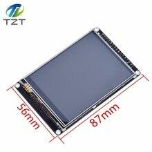 Tzt tft lcd de 3.2 polegadas com tela sensível ao toque da resistência ili9341 para placa de desenvolvimento stm32f407vet6 preto